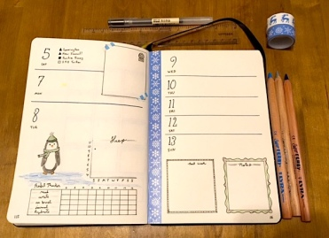 2019 Bullet Journal- Some new spreads and pizzazz to start the new year https://sonorahillsauthor.com/